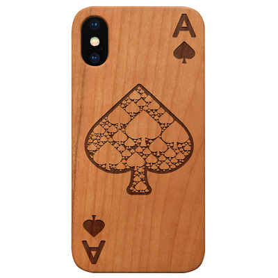 AU24.83 • Buy Ace Of Spades Wood Case For IPhone 13/12/11/11 Pro/Max/Mini, X/XR/XS Max, S20/21