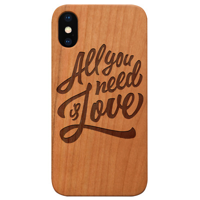 AU24.83 • Buy All You Need Is Love Wood Case For IPhone 13/12/11/11 Pro/Max/Mini X/XR/XS Max L