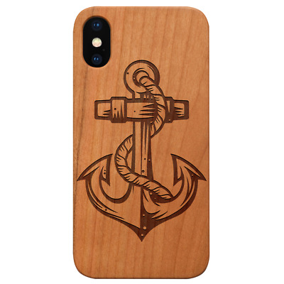 AU24.83 • Buy Anchor 1 Wood Case For IPhone 13/12/11/11 Pro/Max/Mini, X/XR/XS Max S20/21 LE