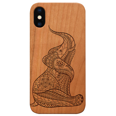 AU24.83 • Buy Baby Elephant Wood Case For IPhone 13/12/11/11 Pro/Max/Mini X/XR/XS Max S20/21 L
