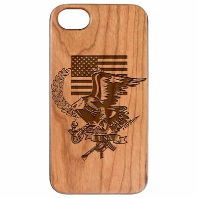 AU24.83 • Buy US Flag With Eagle Wood Case For IPhone 13/12/11/11 Pro/Max/Mini X/XR/XS Max LE