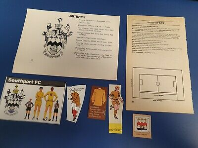 £4.50 • Buy Southport Fc Various Cards, Stickers, Mag & Poster Cut-outs, FKS