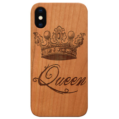 AU24.83 • Buy Queen Crown - Wood Case For IPhone 13/12/11/11 Pro/Max/Mini X/XR/XS Max S20/21 L