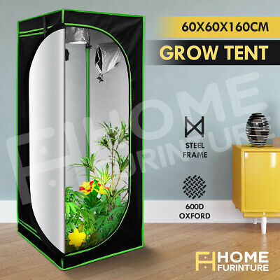 AU74.39 • Buy Grow Tent Hydroponic Reflective Indoor Plant Room Grow System 600D 60x60x160cm