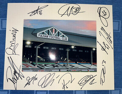 £25 • Buy Fulham FC Hand Signed 2021/22  10x8 Photo Mount Display, COA Signed By 11