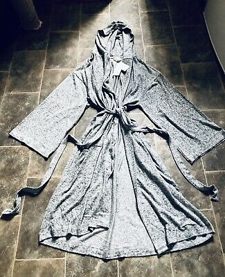 AU28.29 • Buy Marks And Spencer Grey Hooded Dressing Gown - BNWT - Size 12-14