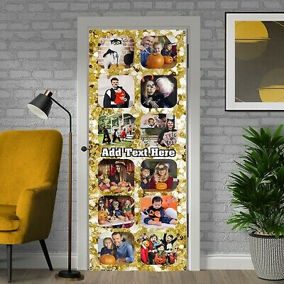 £19.99 • Buy Party Decoration -  Gold Sparkle - Personalised Photos And Text Door Banner