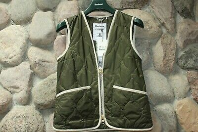 AU213.58 • Buy Barbour Alexa Chung Nora Vest Quilted Olive Green MGI0042OL91 U.K 14 U.S Size 10