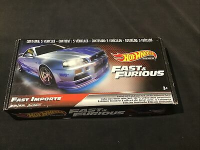 AU44.49 • Buy Hot Wheels Fast And Furious Limited Edition 5-car Premium Set - Fast Imports