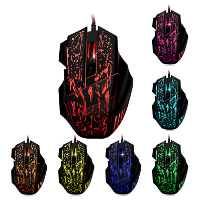 AU18.99 • Buy 7 Button Pro Gaming Mouse 3200DPI Backlit LED Optical USB Wired For PC Laptop AU