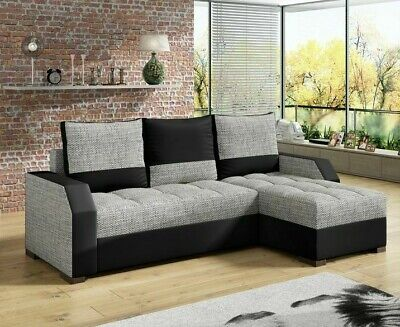 £515 • Buy Corner Sofa Bed ARIS With 2 Storage Containers Sleep Function Universal Side New