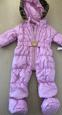 £26.99 • Buy New With Tags Juicy Couture Pink Puffer  Baby Snowsuit Snow Ski Suit 3-6 Months