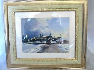 £12.99 • Buy Small Framed Picture / Print World War 2 Spitfire Plane / Spitfire's In Snow