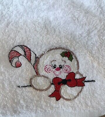 £5.99 • Buy Face Cloth With Embroidered Cute Christmas Snowman Emblem