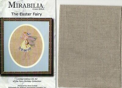 £10 • Buy Mirabilia Limited Edition Cross Stitch Chart + Fabric - The Easter Fairy 2006