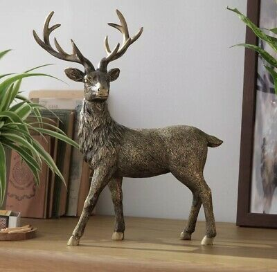 AU33.10 • Buy Moorlands Standing Stag Objet New Gift Unwanted Christmas Wild Animal Country