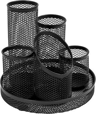 £10.50 • Buy Osco Mesh Pencil Pot Scratch-resistant With Non-marking Base 5 Tube Black DT5 B