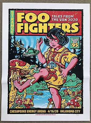 $39 • Buy FOO FIGHTERS Oklahoma City 🍕2020 Concert Poster 🍄 #'d 121/175
