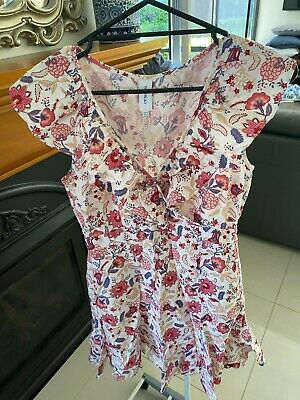 AU19.25 • Buy Tigerlily Pink, Purple & White Floral Wrap Dress Size 10 BRAND NEW WITH TAGS
