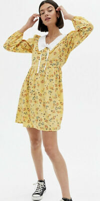 AU23.89 • Buy Influence Dress Size 12 & 18 Mustard Yellow Ditsy Floral Collared NEW JR22