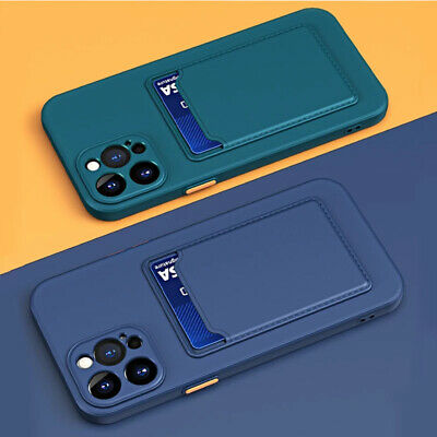 AU8.86 • Buy For IPhone 13 12 11 Pro Max X XS 7 8 Case Silicone Shockproof Card Holder Cover
