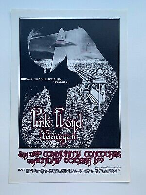 $65 • Buy Pink Floyd Original Concert Poster At The San Diego Community Concourse