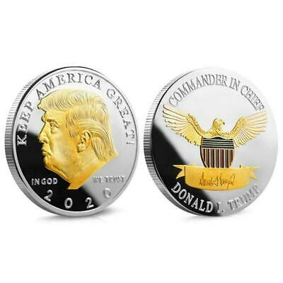 AU9.25 • Buy 2020 Of The United States Commemorative Badge Souvenir Coin Gift Donald J. Trump