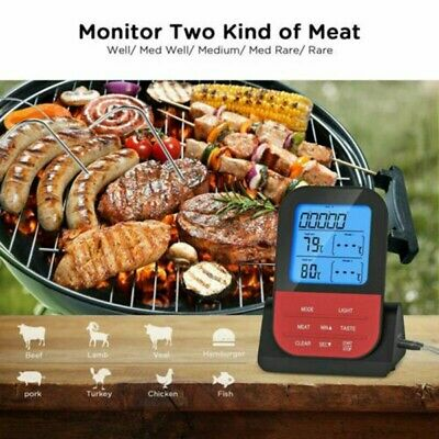 £25.29 • Buy Digital Grill Thermometer Meat Thermometer BBQ Measuring Tools Wireless 2 Probes