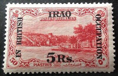 £20.95 • Buy Iraq 1918 5 Rupee On 50 Pi Red Stamp Mint Hinged