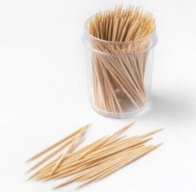 £7.35 • Buy 500pcs Wooden Cocktail Sticks Toothpicks For Fruit Cherry Cheese Parties