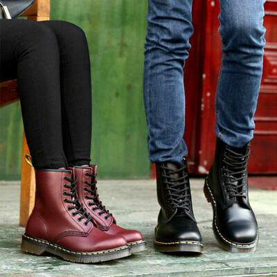 £35.96 • Buy Womens Mens Ankle Boots Chunky Platform Lace Up Combat Army Goth Punk Boots Size