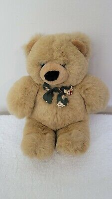 """£9.99 • Buy Keel Toy Simply Soft Collection Honey Bear With Green Bear Bow 13"""" 33 Cm Cuddle"""