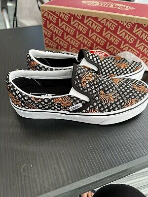 £34.99 • Buy VANS CLASSIC  SLIP ON (TIGER. FLORAL).   BLK Trainers WHIT  SIZE 5.   BNIB 👀👀