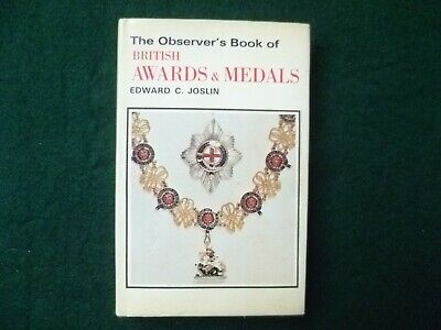 £1.99 • Buy The Observer's Book Of British Awards And Medals By Edward C. Joslin (Hardcover,