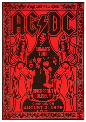 $18.95 • Buy AC/DC 13  X 19  Reproduction Concert Poster Archival Quality 02