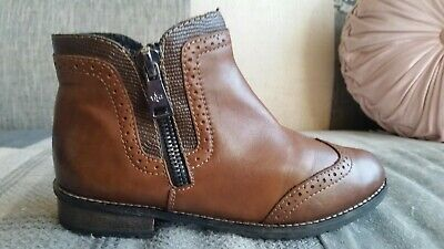 £5.50 • Buy Rieker Tan Leather Brogue Chelsea Boots, Uk 5, Eur 38, In Great  Condition
