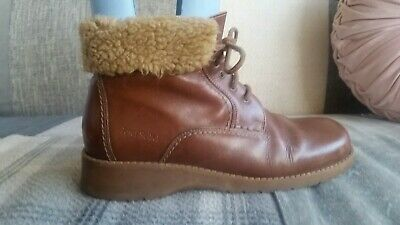 £18 • Buy Josef Seibel Tan Leather Fur Lined Ankle Boots,uk Size 6, In Vgc