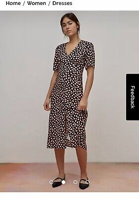 AU18.39 • Buy Nobodys Child Midi Dress Size 10 Black With Pink Hearts  Worn Once