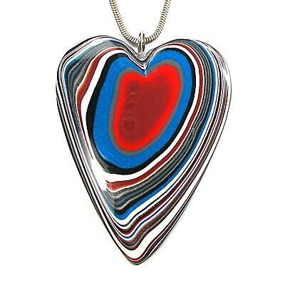 AU133.33 • Buy DVH Ford F150 Fordite Heart Pendant Necklace KC Assembly 64x54x6 (3980)