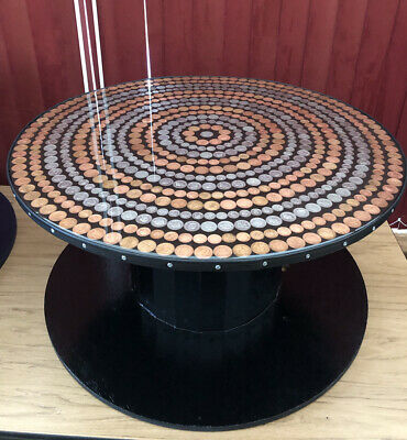£120 • Buy Unique Coin Table Upcycled From A Wooden Cable Reel