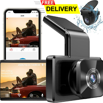 AU175.99 • Buy AUTOWOEL Dual Dash Cam With Wifi GPS Front And Rear Car Camera NEW AU