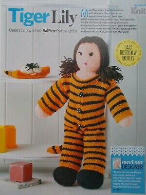 AU2.76 • Buy Knitting Pattern Tiger Lily Doll With Clothes To Knit Mag DK Pattern