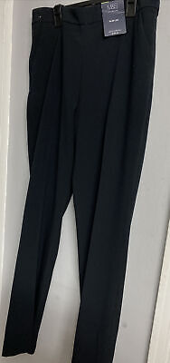£9.50 • Buy M&S Slim (Straight ) Leg With STRETCH Black Trousers 12  NWT
