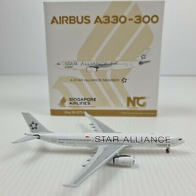 AU90 • Buy NG Model 1:400 Singapore Airlines Airbus A330-300 9V-STU Star Alliance 62003