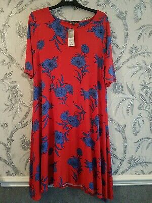 AU12.59 • Buy Bonmarche BNWT Size 12/14 Red And Blue Floral Print Below Knee Dress