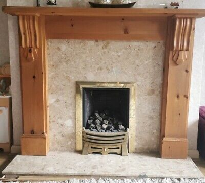 £120 • Buy Complete Fireplace - Gas Fire, Hearth, Back Panel And Surround