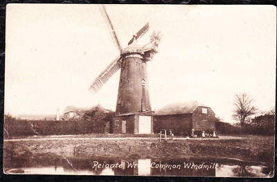 £0.99 • Buy 1893 - Wray Common Windmill, Reigate - Vintage Frith's Postcard Posted 1915 -