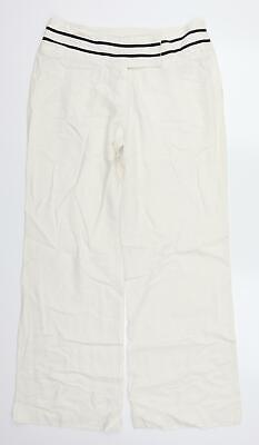 £8 • Buy Evie Womens White Striped  Trousers  Size 12 L30 In