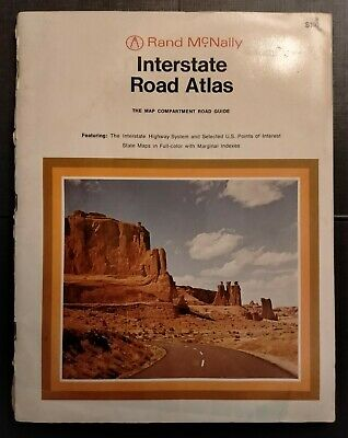 £14.99 • Buy Interstate Road Atlas 1971 Rand McNally Vintage Map Compartment Road Guide USA