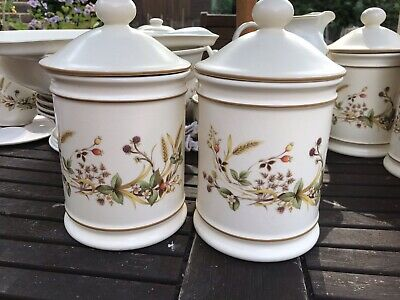£9.99 • Buy Marks And Spencer Harvest Storage Jars X 2 Tall